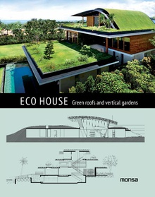 Eco house. Rooftop and vertical gardens