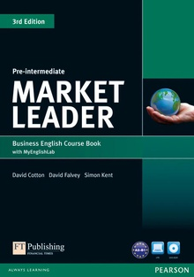 Market Leader 3rd Edition Pre-Intermediate Coursebook with DVD-ROM andMy EnglishLab Student online access code Pack