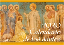 Calendario pared de los santos 2020