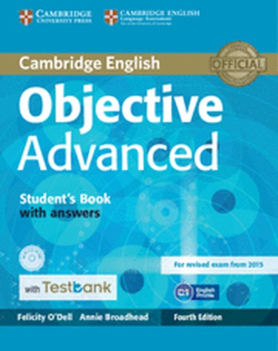 Objective Advanced Student's Book with Answers with CD-ROM with Testbank 4th Edition