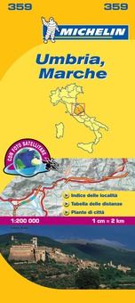 Mapa Local Umbria, Marche