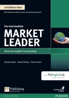 Market Leader 3rd Edition Extra Pre-Intermediate Coursebook with DVD-ROMand MyEnglishLab Pack
