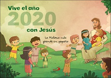 Calendario pared Vive el año 2020 con Jesús
