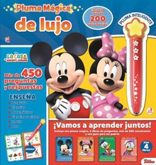 LÁPIZ MÁGICO CON STICKERS MICKEY QUIZ IT PEN