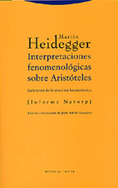 Interpretaciones fenomenológicas sobre Aristóteles